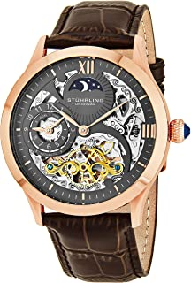 Stuhrling Original Classic Winchester Tempest Ii Men's Automatic Watch With Grey Dial Analogue Display and Brown Leather S...