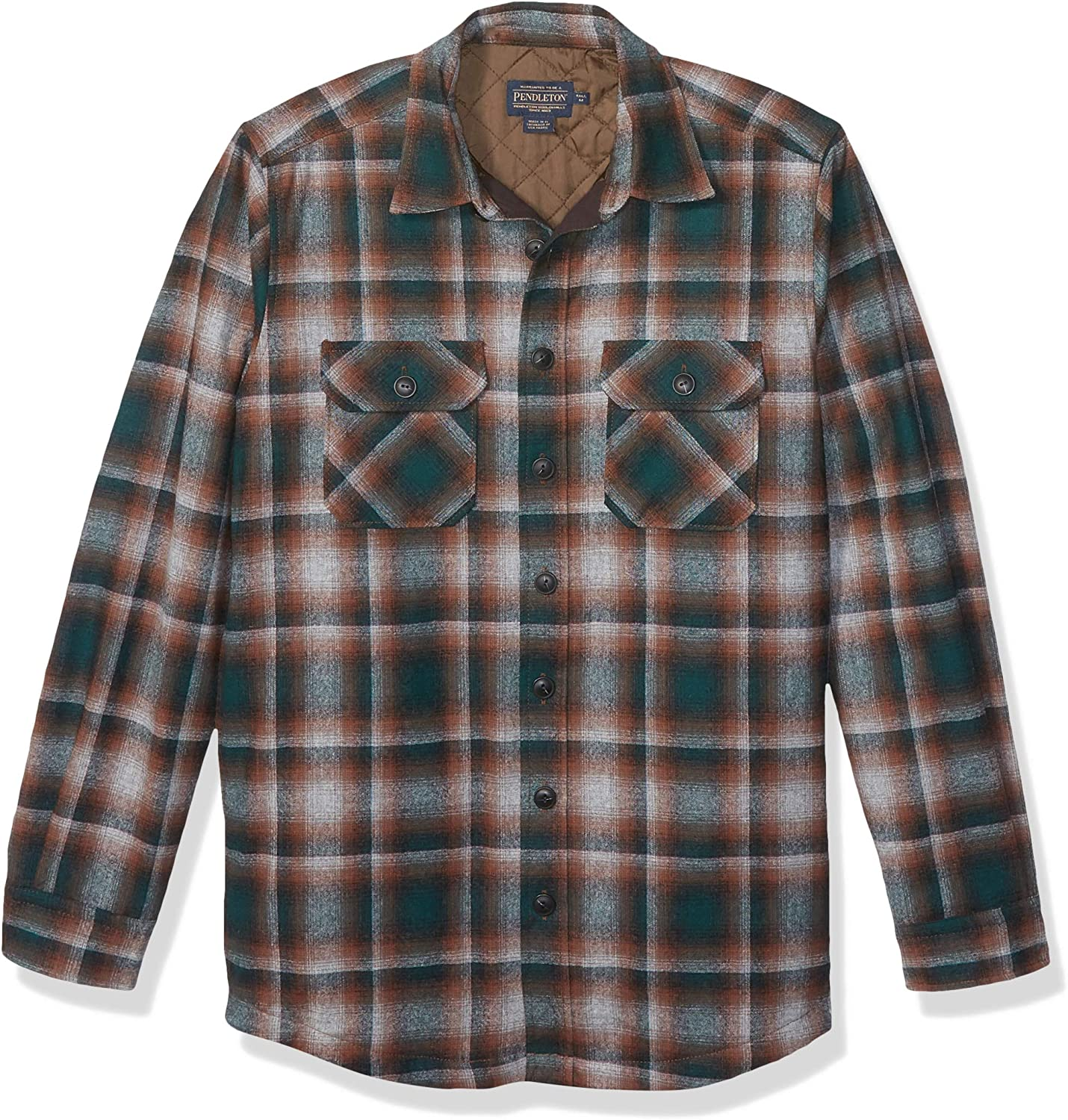 Pendleton Men's Quilted CPO in Wool Shirt Jacket
