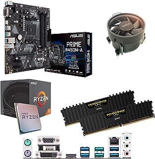 Components4All AMD Ryzen 5 1500 X 3,6 GHz (Turbo 3,7 GHz) fyrkärnig åtta gänga CPU, ASUS Prime B450M-A moderkort & 8 GB 32...