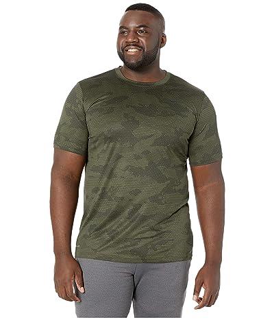 Nike Big Tall Dry Legend T-Shirt Camo All Over Print (Cargo Khaki/Black) Men
