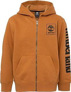 Timberland Boys' Full-Zip Fleece Hooded Sweatshirt