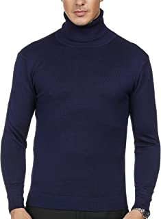 Men's Slim Fit Turtleneck Soft Knitted Long Sleeve Pullover Sweaters