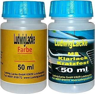 Lackstift Set für Fiat Nero Farbcode: 632 Baujahr: 1990   2011 Perleffektlack   2 Lackstifte a 50 ml von Ludwiglacke. 50 ml Basislack und 50 ml Klarlack.