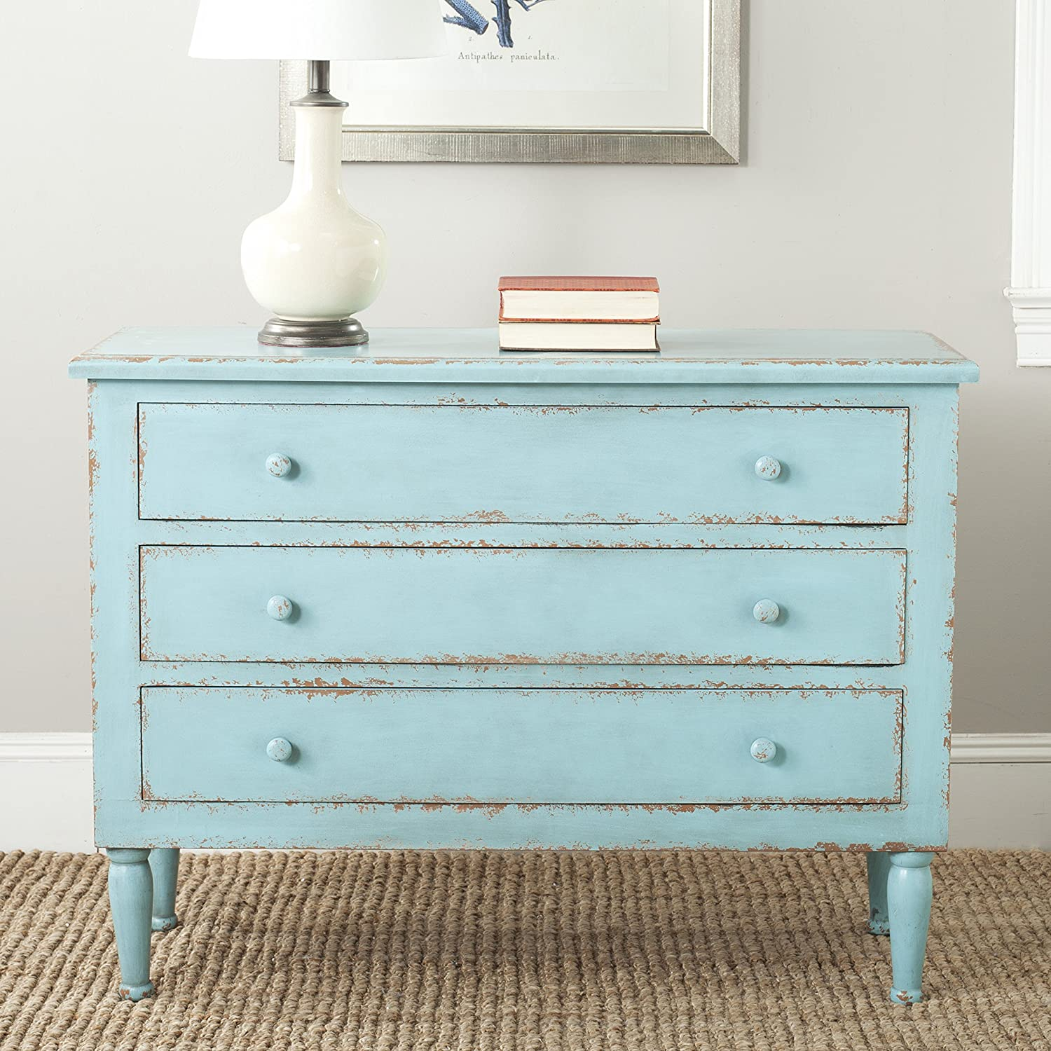 Buy Safavieh American Homes Collection Tablet Distressed Blue 20 ...