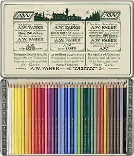 Faber-Castell 211003 - Estuche de metal con 36 lápices de colores Polychromos para artistas edición retro 111 aniversario.