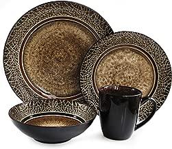 black and copper dinnerware