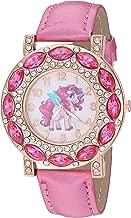 Lucky Unicorn Stones Gold-Tone Analog Quartz Wrist Watch for Girls Luminous Watch Hands.