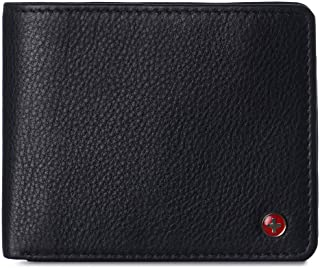 Alpine Swiss Men's Nolan Bifold Commuter Wallet RFID Safe York Collection