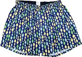 [稲田布帛工業所] Leトランクス 日本製 ダイヤ柄 (緑色・紺色) Mサイズ~LLサイズ