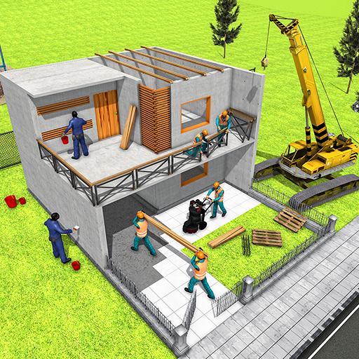 conception de maison moderne et jeux de construction de maison 3D