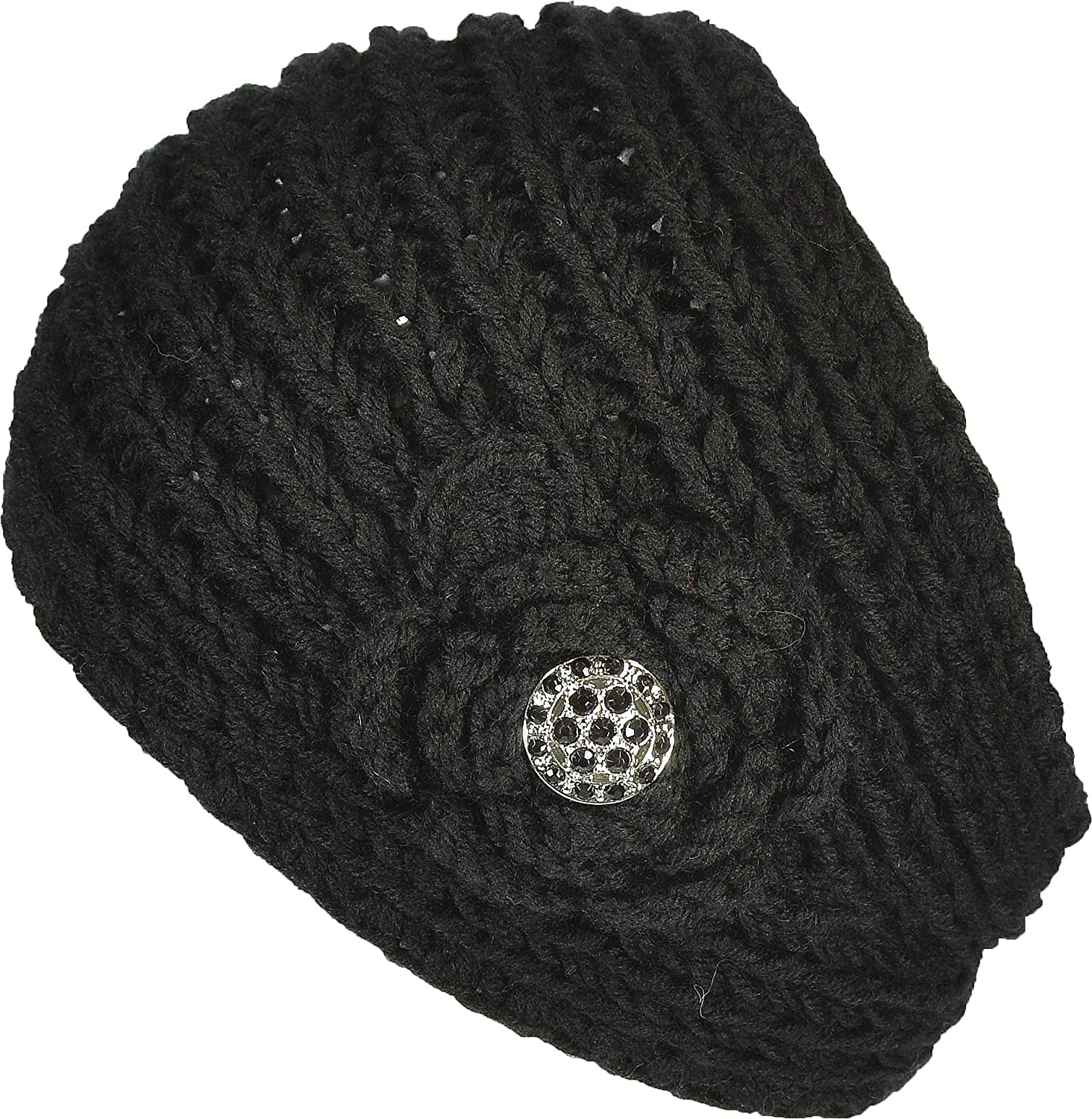 Hand By Hand Women's Knitted Headband Headwrap Crocheted Floral