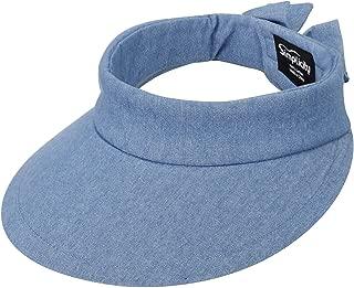 Women's SPF 50+ UV Protection Wide Brim Beach Sun Visor Hat
