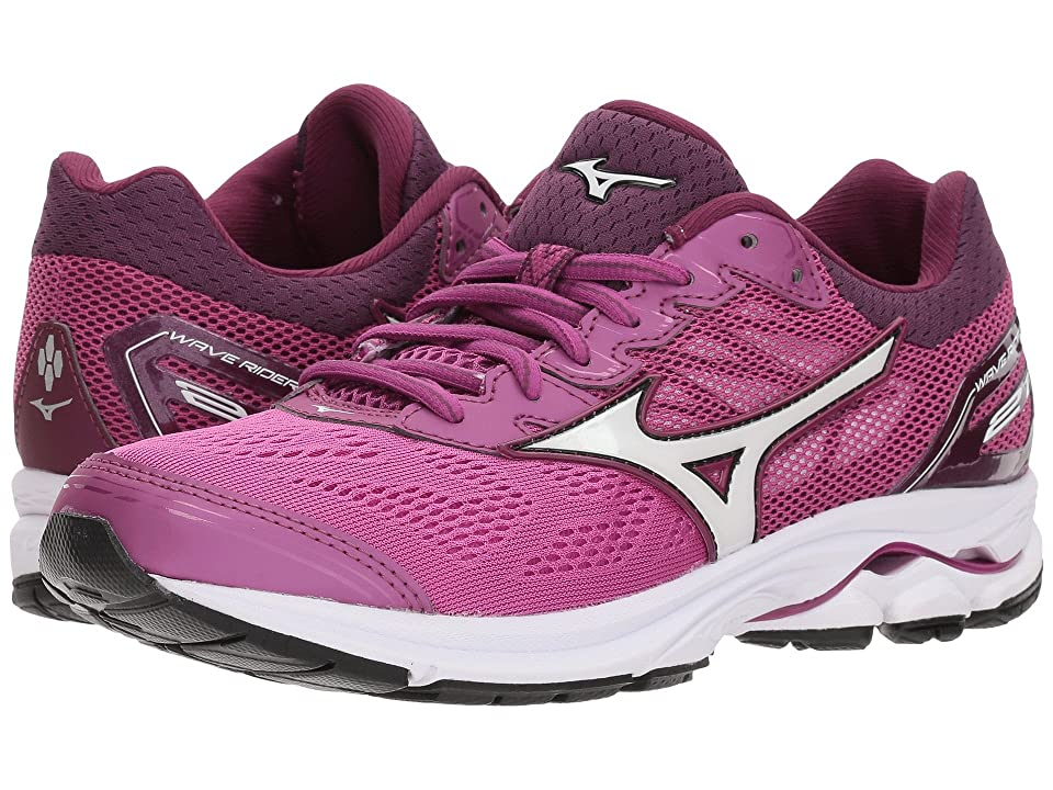 Mizuno Wave Rider 21 (Clover/White/Dark Purple) Girls Shoes