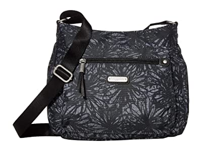 Baggallini New Classic Uptown Bagg with RFID Phone Wristlet (Onyx Floral) Bags