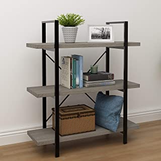 45MinST 3-Tier Vintage Industrial Style Bookcase/Metal...