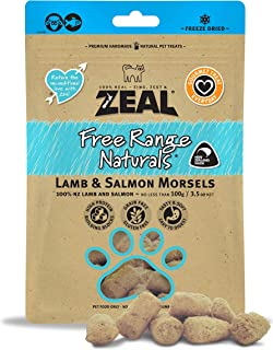 Zeal Free Range Naturals Lamb & Salmon Morsels Freeze Dried Cat Treats 125g