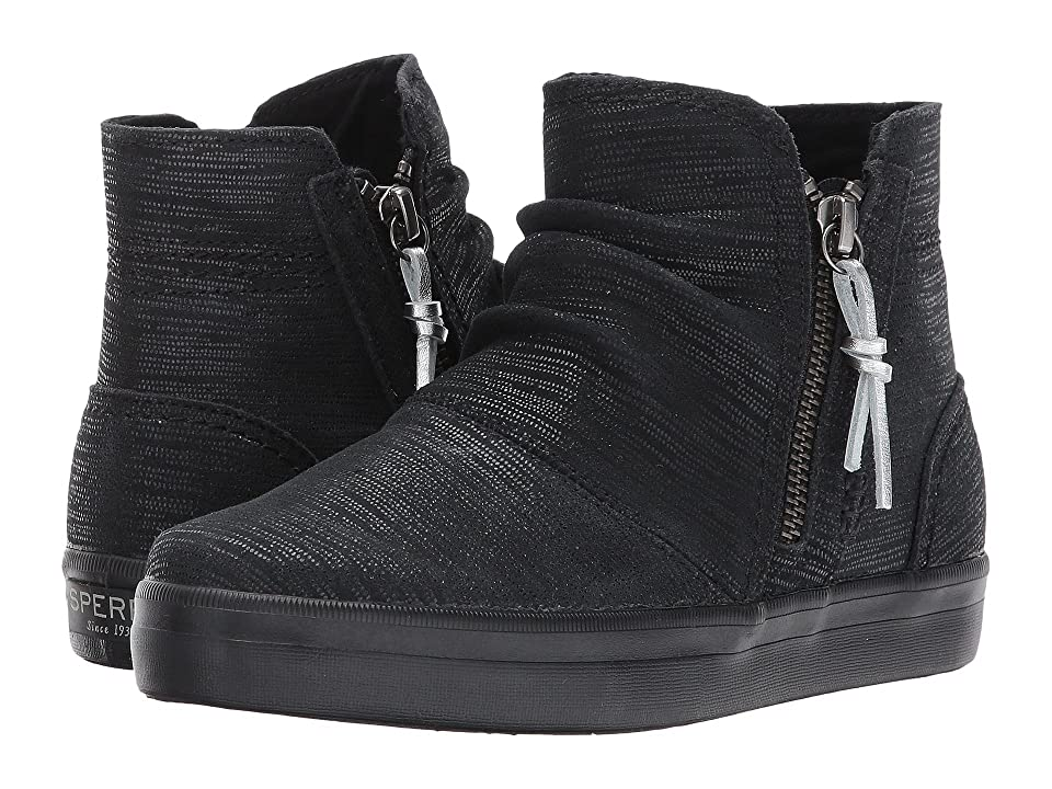 Sperry Kids Crest Zone (Little Kid/Big Kid) (Black Metallic) Girls Shoes