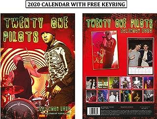 Twenty One Pilots Unofficial Calendar 2020 + Twenty One Pilots Keychain
