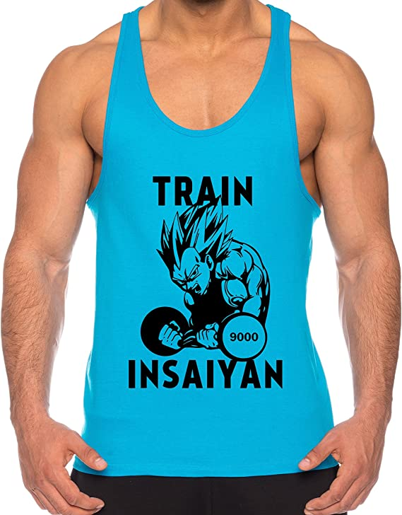 THE LION Vegeta Train Insaiyan de los Hombres Camisa del músculo One Goku Dragon Master Son Ball Vegeta Turtle Roshi Piece Gym