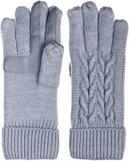 Isotoner Womens Cable Knit Glove - Fleece