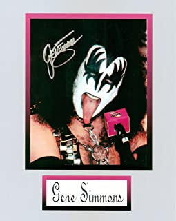 Gene Simmons of Kiss 8 X 10 Photo Display Autograph on Glossy Photo Paper