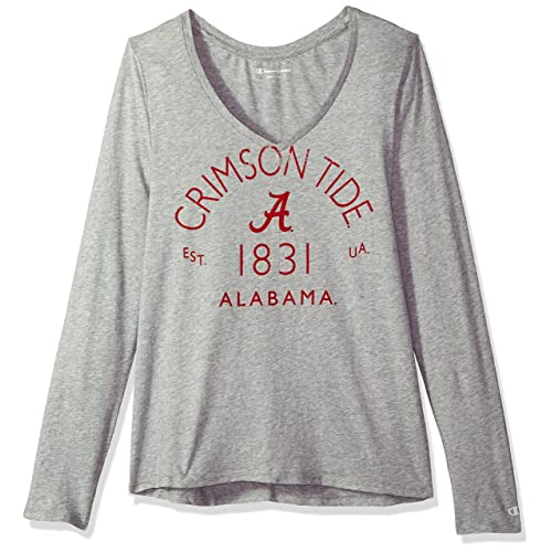 c0179d6b9 Champion NCAA Womens NCAA Women's University Long Sleeve V-Neck Gray Tee