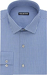 Kenneth Cole Unlisted Mens Dress Shirt Slim Fit Check
