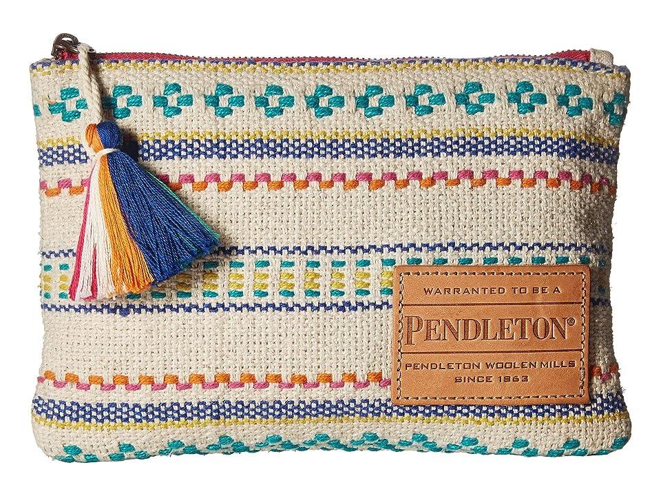 Pendleton Paloma Stripe Zip Pouch (Bright Stripe) Wristlet Handbags