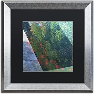 Inspired by Monet by Kurt Shaffer, Black Matte, Silver Frame 16x16-Inch