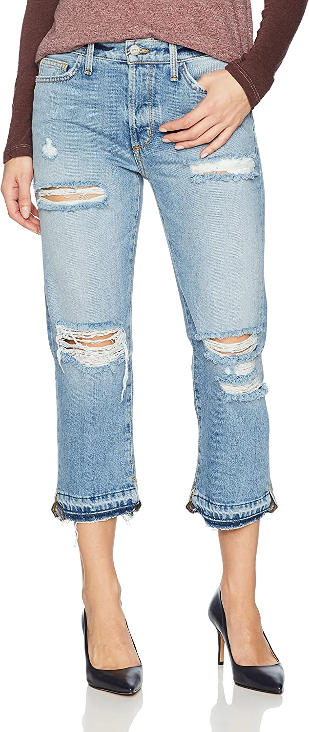 Siwy Womens Elle Crop Straight Jeans in Money for Nothing Jeans