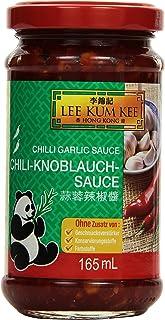 Lee Kum Kee Chili-Knoblauch-Sauce aus China, scharf, ohne Glutamat, ohne Konservierungsstoffe, ohne Farbstoffe, vegan 6er Pack 6 x 165 ml
