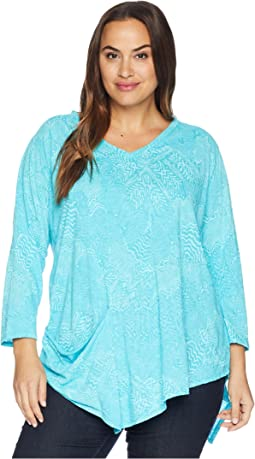 Plus Size White Tides Ella Tunic
