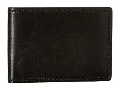 Bosca Dolce Collection Small Bifold Wallet (Black) Bi-fold Wallet