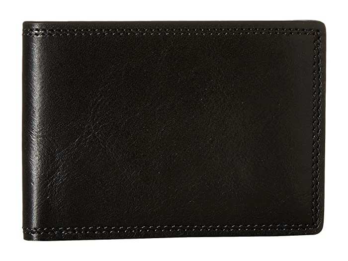 Bosca  Dolce Collection - Small Bifold Wallet (Black) Bi-fold Wallet