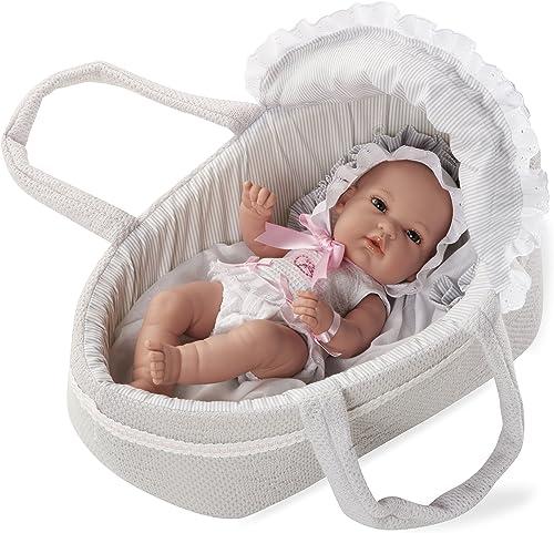 Arias 33  Eleganz Natal Swarovski Elements Puppe mit Babytragetasche