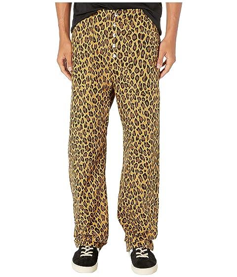 MARNI Relax Fit Leopard Contrast Cuff Pants