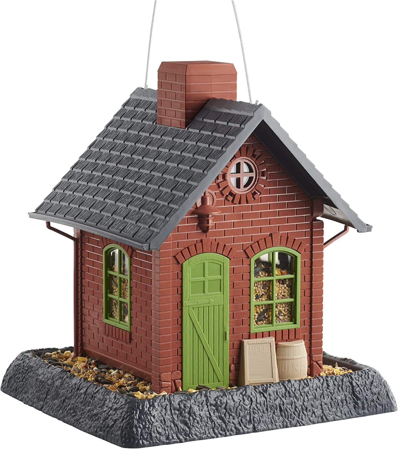 NORTH STATE IND 9281 (Nosio) Clayred Pub Bird Feeder
