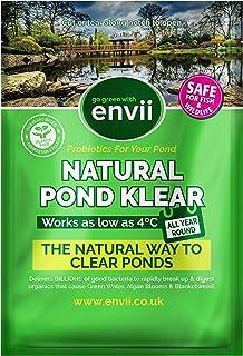 Envii Natural Pond Klear – Limpiador Natural Estanques Elimina Agua Verde y Tratamiento para Limpiar Algas Verdes (Trata 20.000 litros)