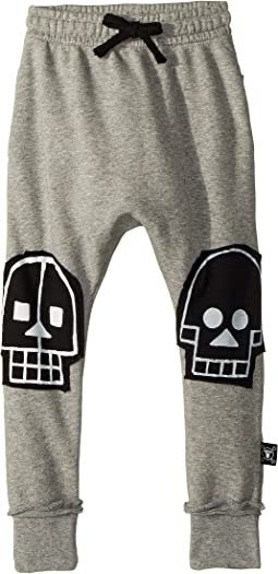 Skull Robot Patch Baggy Pants (Toddler/Little Kids)