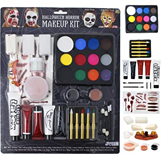36 PCs Halloween Makeup Set Ultimate Family Party Pack All-in-one Easy On & Easy Off set for Halloween Party Suppiles