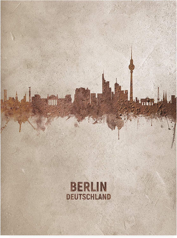 Trademark Outstanding Fine Art Berlin Germany Tompse Skyline Rust by Michael Brand new