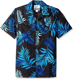 36a892e0 Amazon Brand - 28 Palms Men's Standard-Fit 100% Cotton Tropical Hawaiian  Shirt