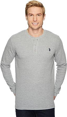 Long Sleeve Thermal Henley Shirt