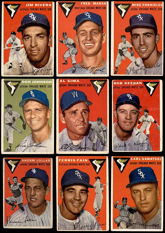 1954 Topps Chicago White National uniform free shipping Sox Team Very popular GO Set