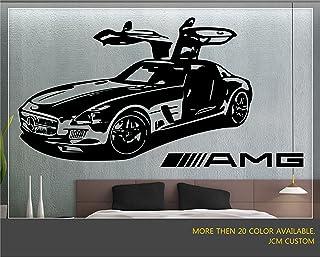 "JCM Custom Mercedes-Benz SLS AMG Sport Car Removable Wall Vinyl Decal Stickers 36"" X 22"""