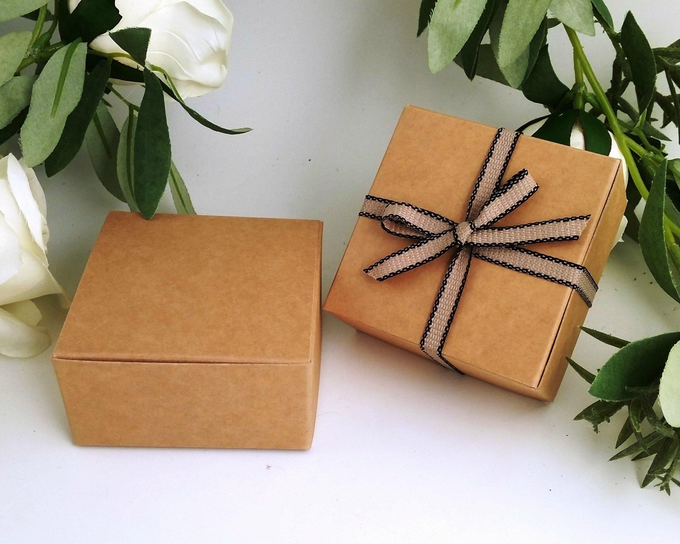 Pequeñas cajas de regalo (código # F) papel Kraft caja de regalo ...