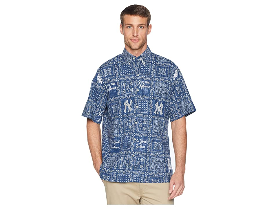 Reyn Spooner New York Yankees Original Lahaina Classic Fit Hawaiian Shirt (Navy) Men