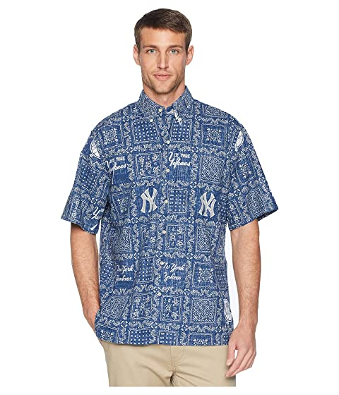 324a5715 Reyn Spooner New York Yankees Original Lahaina Classic Fit Hawaiian Shirt