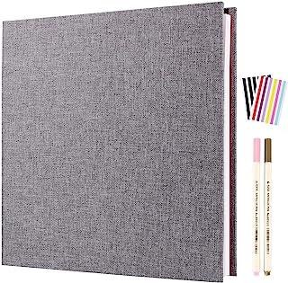 AIOR Album Photo Adhesif Scrapbooking, étanche Traditionnel Livre de Lin Album Scrapbook 20 Feuilles (40 Pages), Cadeaux d...
