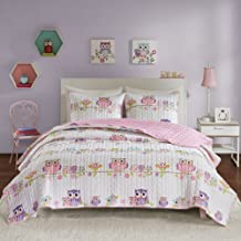 """Comfort Spaces Quilt Coverlet Bedspread Print Ultra Soft Hypoallergenic Kids Teens Girls Bedding Set, Full/Queen(90""""x90""""),..."""